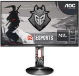 Monitor Gaming TN LED AOC 24.5inch G2590PX/G2, Full HD (1920 x 1080), HDMI, DisplayPort, USB 3.0, Boxe, Pivot, 144 Hz, 1 ms (Gri)