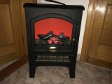 Semineu electric,francez,cu suflanta si  efect vizual de lemne arzand