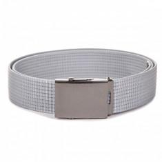 Curea pentru barbati culoare gri deschis lungime ajustabila catarama din metal A029