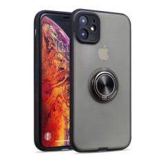 Husa iPhone 11 Dura Cu Inel Finger Grip Neagra