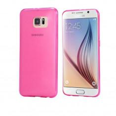 Husa Silicon Samsung Galaxy S6 Edge+ g928 Clear Pink Ultra Thin