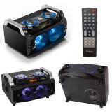 Sound box portabil, telecomanda, difuzoare iluminate, USB, SD, FM, RMS 60 W