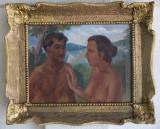 Pictură de Traian Achim (1885-1945), colonist temporar al şcolii de la Baia Mare, Scene gen, Ulei, Realism
