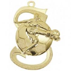 Medalie Fotbal Auriu cu 3,9*5,9 cm