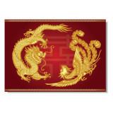 Tablou Feng Shui cu Dragon si Pasarea Phoenix model 3