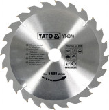 Disc fierastrau wolfram pentru lemn 250 mm x 24T YATO