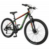 Cumpara ieftin Bicicleta MTB-HT Velors V2611B, roti 26inch, frane mecanice disc, cadru otel 17.5inch, 21 viteze (Negru/Rosu)