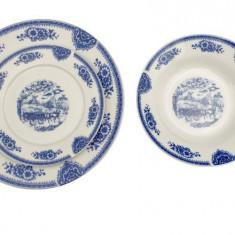 Set serviciu masa portelan 18buc. Home Favour albastru Handy KitchenServ