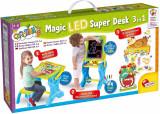 Masuta de activitati 3 in 1 cu LED PlayLearn Toys, LISCIANI