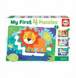 Puzzle 4 in 1 My first puzzle, 26 piese, Educa