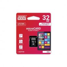 Cumpara ieftin Card MicroSD 32GB + Adaptor Clasa 10 GoodRam