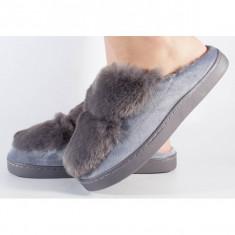 Papuci de casa gri (cod 418003)