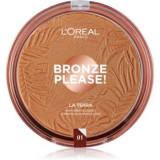L'Oréal Paris Wake Up & Glow La Terra Bronze Please! bronzer și pudră pentru contur