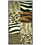 Covor Decorino Animal Print C05-020175, Maro, 60x110 cm