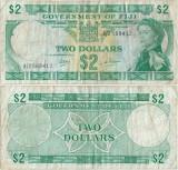 1969 , 2 dollars ( P-60a ) - Fiji