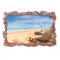 Sticker 3D perete, 60x90cm, Plaja