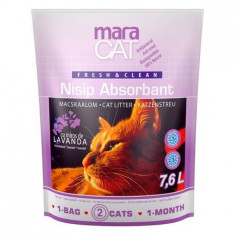 Nisip litiera pisici, Maracat, Absorbant Silicat Lavanda, 7.6 L