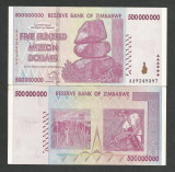 ZIMBABWE  500000000  500.000.000  DOLARI  DOLLARS 2008 UNC [1] P- 82 necirculata