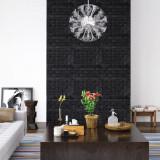 Tapet de perete autocolant, model cărămizi 3D, 10 buc., negru, vidaXL