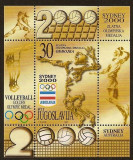 Yugoslavia 2000 Volleyball, Olympic Medal, Sydney, perf. sheet, MNH M.343, Nestampilat