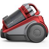 Aspirator fara sac Daewoo RCC-250R/3A, 800 W, 3L, Tub telescopic din metal, Rosu