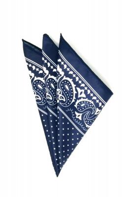 Batista barbati bleumarin print floral foto