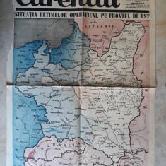 WWII - HARTA OPERATIUNI PE FRONTUL DE EST - EXTRAS ZIARUL CURENTUL 16 SEPT. 1939