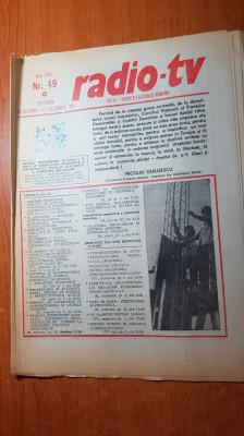 revista radio-tv saptamana 29 noiembrie - 5 decembrie 1981 foto