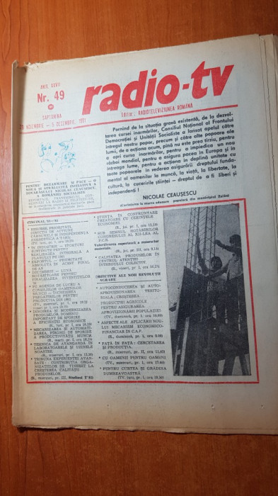 revista radio-tv saptamana 29 noiembrie - 5 decembrie 1981