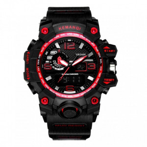 Ceas Barbatesc KEMANQI CS1011, curea silicon, digital watch, Functii- alarma, ora, rezistent 3ATM