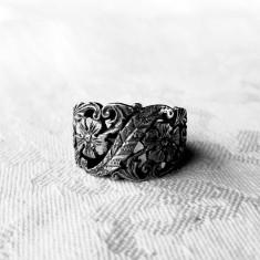 INEL argint MARGARETE splendid FRANTA art nouveau 1900 marcaje VECHI superb RAR