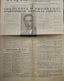 Ziarul Drapelul ,23 Dec.1947 ;Ideologia si programul Partidului National Liberal