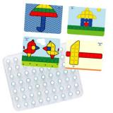Joc educativ mozaic gigant Miniland, 64 piese