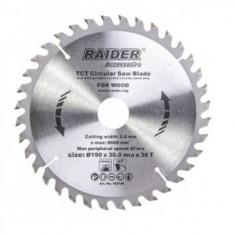 Disc pentru fierastrau circular Raider 190x36Tx30mm