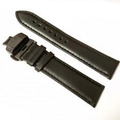 Curea ceas neagra cu deployant negru 18mm 20mm 22mm 24mm WZ955