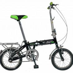 Bicicleta pliabila 14 FIVE Beta cadru otel culoare negru verde