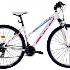 Bicicleta Dama DHS Teranna 2922, Roti 29inch (Alb/Roz)