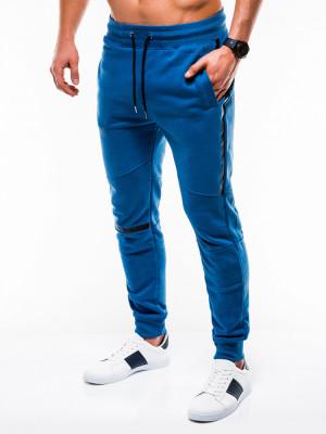 Pantaloni barbati, de trening, albastru, slim fit, sport, street, model nou - P743 foto