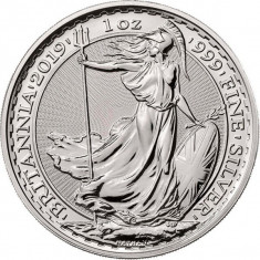Moneda argint 999 lingou , Britannia 1 uncie = 31 grame