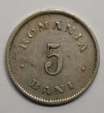 5 BANI 1900 . DETALII EXCELENTE . CRUCE INCLINATA ., Cupru-Nichel