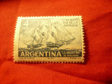 Serie Argentina 1963 - Ziua Marinei - Corabie , 1 valoare