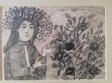 Tablou Sultana Maitec, creion, 30x20 cm, inramat, nesemnat, stare perfecta, Portrete, Carbune, Avangardism