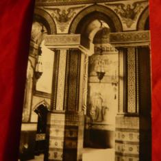 Ilustrata Iasi - Biserica Trei Ierarhi - interior , anii '60