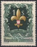 AUSTRIA 1951- EVENIMENTE , CONGRES MONDIAL CERCETASI TIMBRU NESTAMPILAT