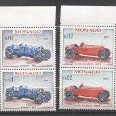 Monaco 1967 Grand Prix of Monaco, Cars x 4, MNH S.261