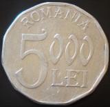 Moneda 5000 LEI - ROMANIA, anul 2001   *cod 4970 - aluminiu