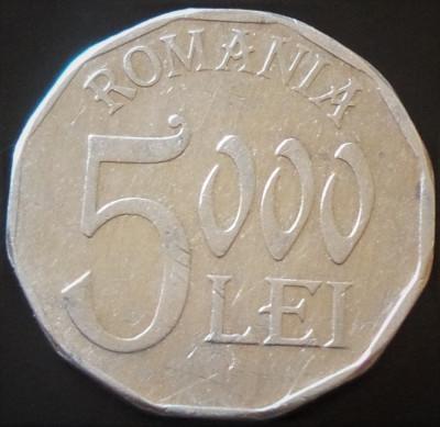 Moneda 5000 LEI - ROMANIA, anul 2001   *cod 4970 - aluminiu foto
