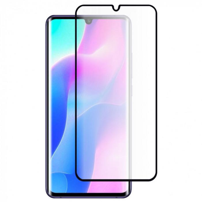 Folie Sticla Roar pentru Xiaomi Mi Note 10 Lite, 5D, Case Friendly, Full Glue, Negru