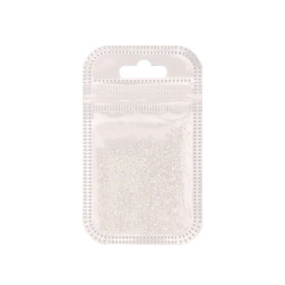 Pietre albe decorative cu diamante 50 buc foto