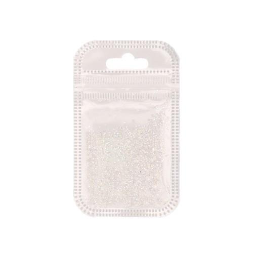 Pietre albe decorative cu diamante 50 buc